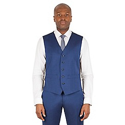 Ben Sherman - Bright blue plain slim fit kings suit waistcoat