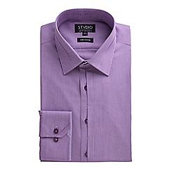 Stvdio by Jeff Banks - Purple Fine Stripe Shirt