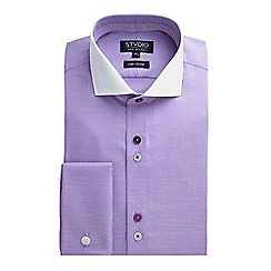Stvdio by Jeff Banks - Lilac Puppytooth Shirt