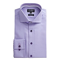 Stvdio by Jeff Banks - Lilac Textured Weave Shirt