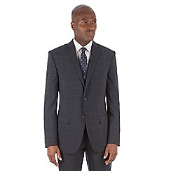 Stvdio by Jeff Banks - Blue check fit 2 button suit