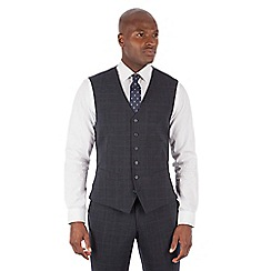 Stvdio by Jeff Banks - Studio Performance by Jeff Banks Blue check 6 button front tailored fit waistcoat