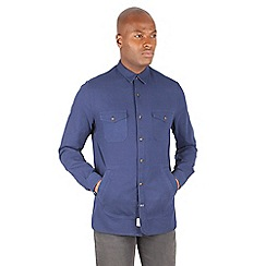 Racing Green - Robbie Indigo Oxford Long Sleeve Shirt