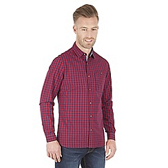 Racing Green - Candy Two Colour Check Long Sleeve Shirt