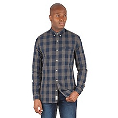 Racing Green - Wilson Large Two Colour Check Long Sleeve Shirt