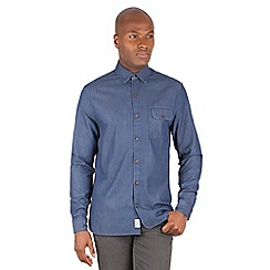 Racing Green - Kelman Chambray Paisley Print Long Sleeve Shirt