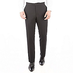 Jeff Banks - Jeff Banks Black plain regular fit dresswear suit trouser