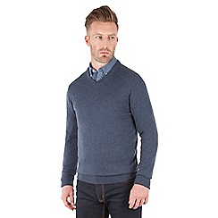 Racing Green - Fletcher V Neck Merino Knit
