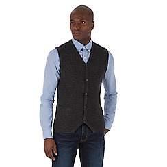 Racing Green - Gospel Button Through Lambswool Blend vest