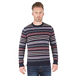 Racing Green - Douglas V Neck Fair Isle Jumper