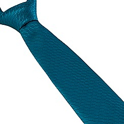 Stvdio by Jeff Banks - Teal Irregular Textured Tie