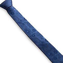 Stvdio by Jeff Banks - Blue Etched Flower Tie