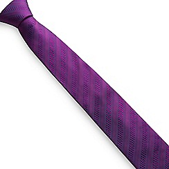 Stvdio by Jeff Banks - Magenta textured stripe tie
