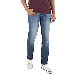 Racing Green - Dene Straight Blue Wash Jean