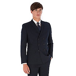 Red Herring - Navy twill double breasted slim fit suit jacket