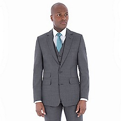 Hammond & Co. by Patrick Grant - Grey tonal check wool blend 2 button front tailored fit St. James suit