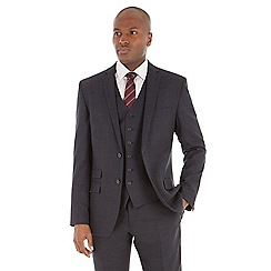 Stvdio by Jeff Banks - Blue birdseye tailored fit performance suit jacket