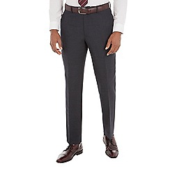 Stvdio by Jeff Banks - Blue birdseye tailored fit performance suit trouser