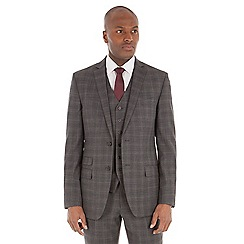 Stvdio by Jeff Banks - Grey check tailored fit performance suit jacket