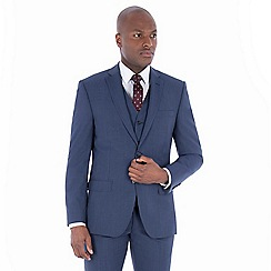 J by Jasper Conran - Blue textured wool blend tailored fit suit