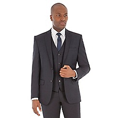 J by Jasper Conran - Navy micro wool blend tailored fit suit jacket