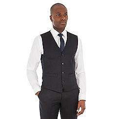 J by Jasper Conran - Navy micro wool blend tailored fit waistcoat
