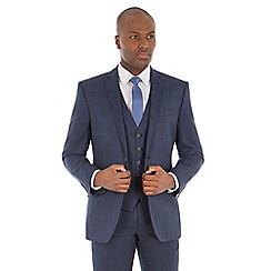 Ben Sherman - Deep blue micro wool blend tailored fit suit jacket