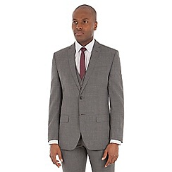 Ben Sherman - Grey textured wool blend tailored fit suit jacket