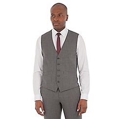 Ben Sherman - Grey textured wool blend tailored fit waistcoat