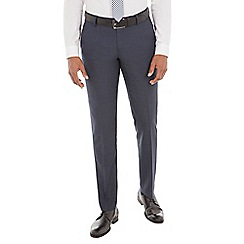 Ben Sherman - Navy broken check wool blend tailored fit suit trouser