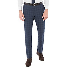 Ben Sherman - Airforce blue wool blend slim fit trouser