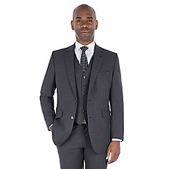 Centaur Big & Tall - Grey seimi plain regular fit suit