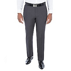 Centaur Big & Tall - Grey semi plain regular fit trouser