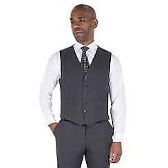 Centaur Big & Tall - Grey semi plain regular fit waistcoat