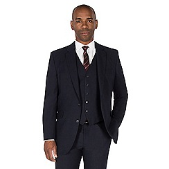 Centaur Big & Tall - Navy semi plain regular fit suit jacket