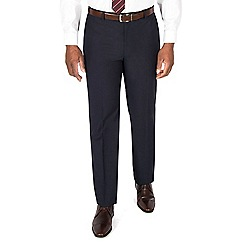 Centaur Big & Tall - Navy semi plain regular fit suit trouser
