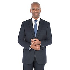 Centaur Big & Tall - Midnight navy birdseye regular fit suit