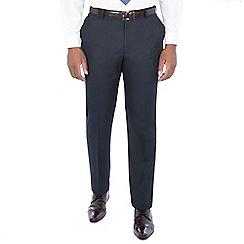 Centaur Big & Tall - Midnight navy birdseye regular trouser