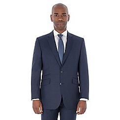 Centaur Big & Tall - Bright blue semi plain machine washable wool blend regular fit suit