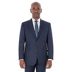 Centaur Big & Tall - Bright blue semi plain machine washable wool blend regular fit suit