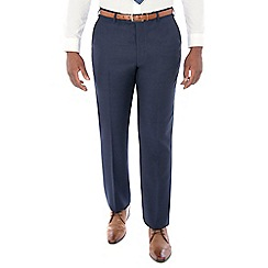 Centaur Big & Tall - Bright blue semi plain machine washable wool blend regular fit suit trouser
