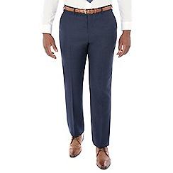 Centaur Big & Tall - Bright blue semi plain machine washable wool blend regular fit suit trouser