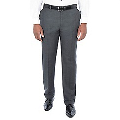 Centaur Big & Tall - Grey tonal check regular fit trousers