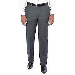 Centaur Big & Tall - Grey tonal check regular fit trousers