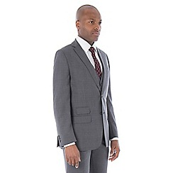 The Collection - Grey broken check tailored fit suit
