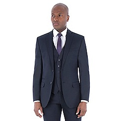 The Collection - Navy birdseye tailored fit suit
