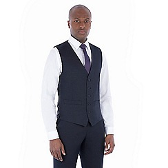 The Collection - Navy tonal birdseye tailored waistcoat
