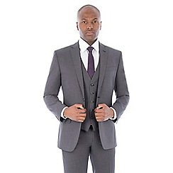 The Collection - Grey semi plain tailored fit suit