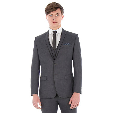 Red Herring - Charcoal textured with tipping slim fit suit