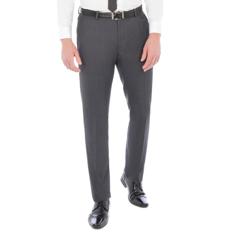 Red Herring Charcoal textured with tipping slim fit suit trouser